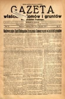 Gazeta Właścicieli Domów i Gruntów Województwa Śląskiego, 1932, R. 5, nr 2