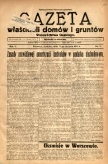 Gazeta Właścicieli Domów i Gruntów Województwa Śląskiego, 1932, R. 5, nr 3