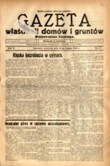 Gazeta Właścicieli Domów i Gruntów Województwa Śląskiego, 1932, R. 5, nr 7