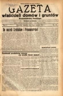 Gazeta Właścicieli Domów i Gruntów Województwa Śląskiego, 1932, R. 5, nr 26