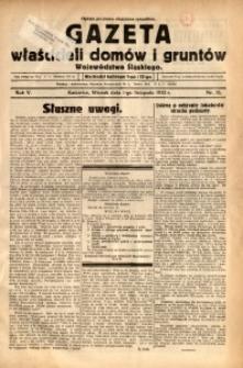 Gazeta Właścicieli Domów i Gruntów Województwa Śląskiego, 1932, R. 5, nr 35