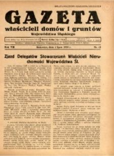 Gazeta Właścicieli Domów i Gruntów Województwa Śląskiego, 1935, R. 8, nr 13