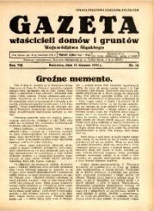 Gazeta Właścicieli Domów i Gruntów Województwa Śląskiego, 1935, R. 8, nr 16