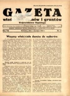 Gazeta Właścicieli Domów i Gruntów Województwa Śląskiego, 1935, R. 8, nr 17