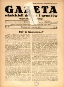 Gazeta Właścicieli Domów i Gruntów Województwa Śląskiego, 1936, R. 9, nr 11