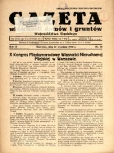 Gazeta Właścicieli Domów i Gruntów Województwa Śląskiego, 1936, R. 9, nr 18