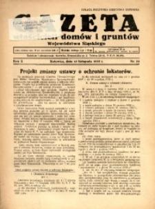 Gazeta Właścicieli Domów i Gruntów Województwa Śląskiego, 1937, R. 10, nr 22