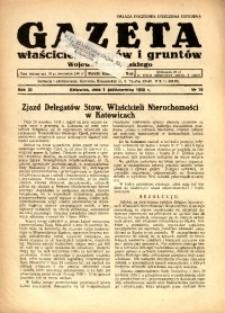 Gazeta Właścicieli Domów i Gruntów Województwa Śląskiego, 1938, R. 11, nr 19
