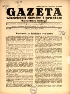 Gazeta Właścicieli Domów i Gruntów Województwa Śląskiego, 1939, R. 12, nr 14