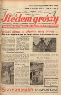 Siedem Groszy, 1934, R. 3, nr 29. - Wyd. DE