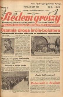 Siedem Groszy, 1934, R. 3, nr 53. - Wyd. DE