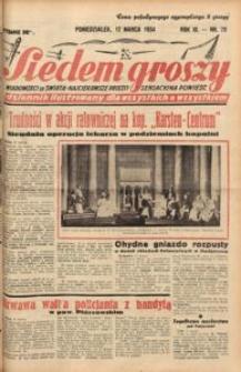 Siedem Groszy, 1934, R. 3, nr 70. - Wyd. DE
