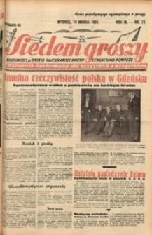 Siedem Groszy, 1934, R. 3, nr 71. - Wyd. DE