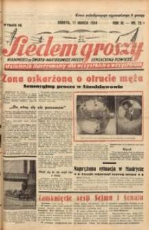 Siedem Groszy, 1934, R. 3, nr 75. - Wyd. DE