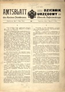 Amtsblatt des Kreises Dombrowa, 1915, No 1
