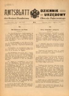 Amtsblatt des Kreises Dombrowa, 1915, No 9