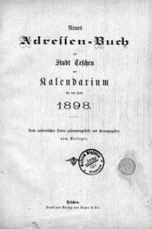 Neues Adressen-Buch der Stadt Teschen, 1898