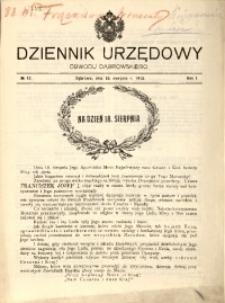 Dziennik Urzędowy Obwodu Dąbrowskiego, 1915, R. 1, No 12