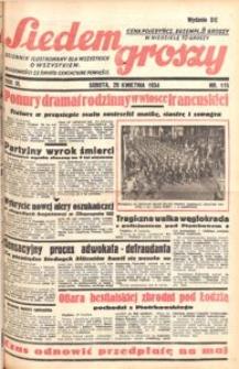 Siedem Groszy, 1934, R. 3, nr 115. - Wyd. DE