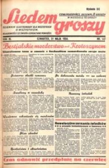 Siedem Groszy, 1934, R. 3, nr 147. - Wyd. DE