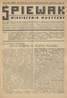 Śpiewak, 1933, R. 14, nr 7/8