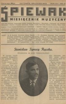 Śpiewak, 1933, R. 14, nr 12