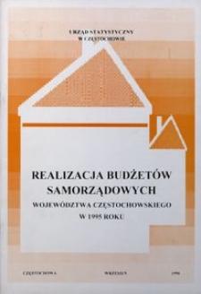 Realizacja budżetów samorządowych województwa częstochowskiego w 1995 roku