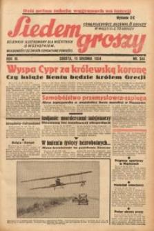 Siedem Groszy, 1934, R. 3, nr 344