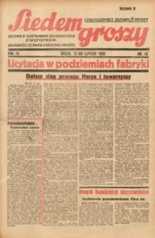 Siedem Groszy, 1935, R. 4, nr 43