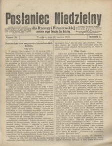 Posłaniec Niedzielny, 1895, R. 1, Nr 26