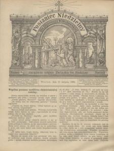 Posłaniec Niedzielny, 1895, R. 1, Nr 34