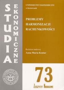 Problemy harmonizacji rachunkowości