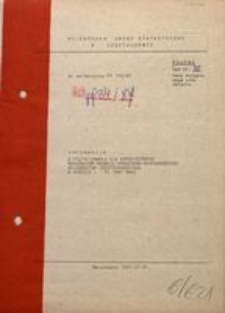 Informacja o Kształtowaniu się Syntetycznych Wskaźników Rozwoju Społeczno-Gospodarczego Województwa Częstochowskiego w Okresie I–VI 1987 Roku
