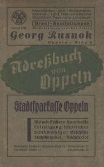 Adressbuch der Stadt Oppeln. 1937