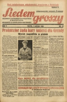 Siedem Groszy, 1936, R. 5, nr 37
