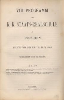 Programm der k. k. Staats-Realschule in Teschen, 1880/81