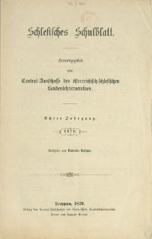 Schlesisches Schulblatt, Jg. 8 (1879), Nr. 1-24