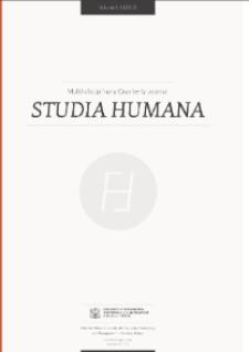Studia Humana, 2012, Vol. 1:1