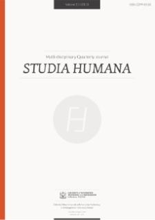 Studia Humana, 2013, Vol. 2:1