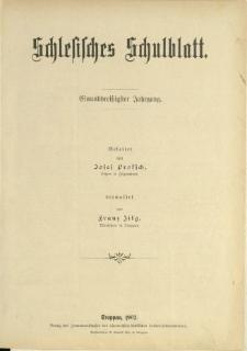 Schlesisches Schulblatt, Jg. 31 (1902), Nr. 1-24