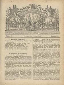 Posłaniec Niedzielny, 1897, R. 3, Nr 6