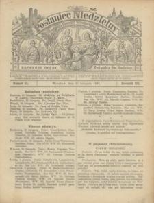 Posłaniec Niedzielny, 1897, R. 3, Nr 47