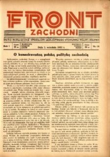 Front Zachodni, 1933, R. 1, nr 14