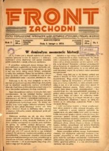 Front Zachodni, 1934, R. 2, nr 1