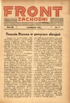Front Zachodni, 1935, R. 3, nr 9