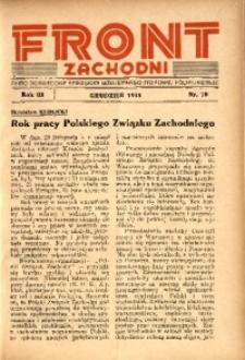 Front Zachodni, 1935, R. 3, nr 10