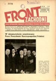 Front Zachodni, 1936, R. 4, nr 6