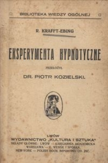 Eksperymenta hypnotyczne