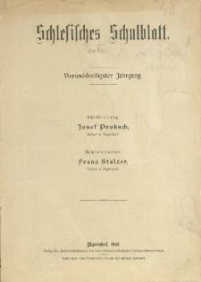 Schlesisches Schulblatt, Jg. 34 (1905), Nr. 1-24