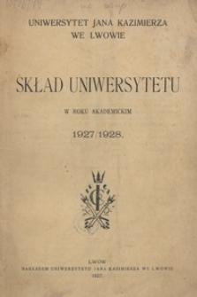 Skład Uniwersytetu Jana Kazimierza we Lwowie w roku akademickim 1927/1928